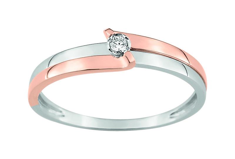 bague or blanc or rose diamant